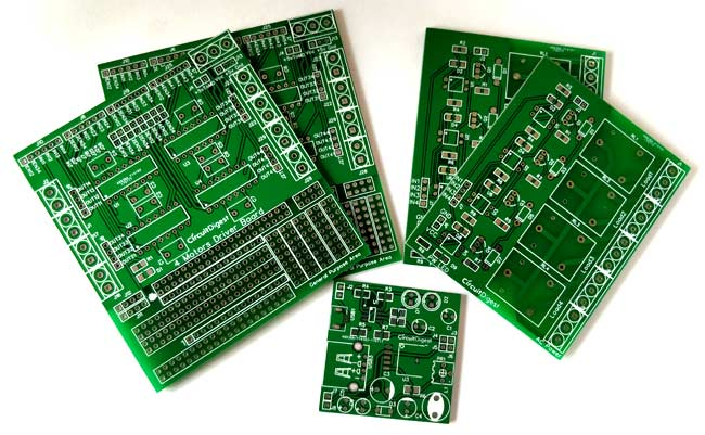 A variety of printed circuit boards